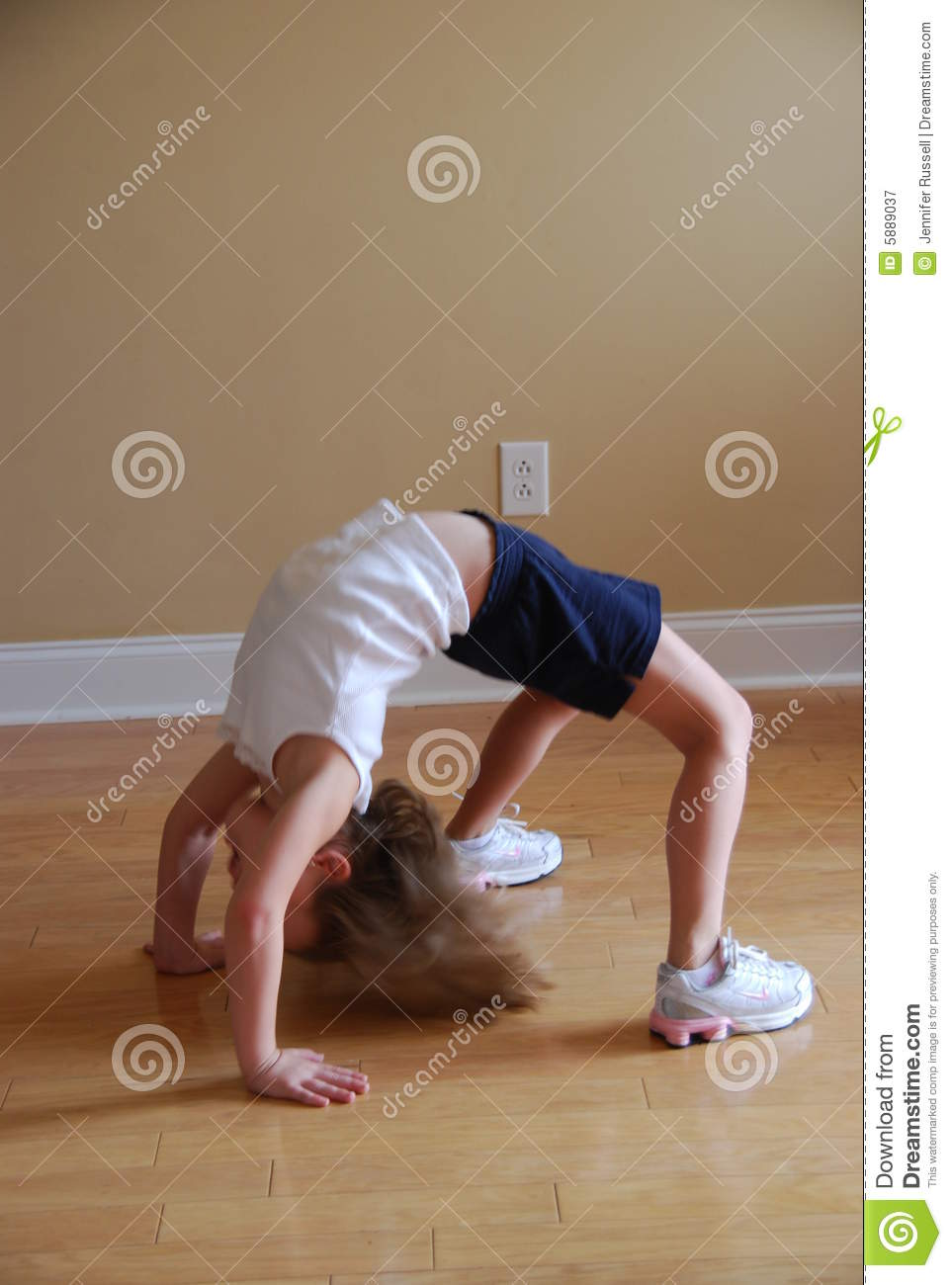 Back Bend Royalty Free Stock Photography Image 5889037