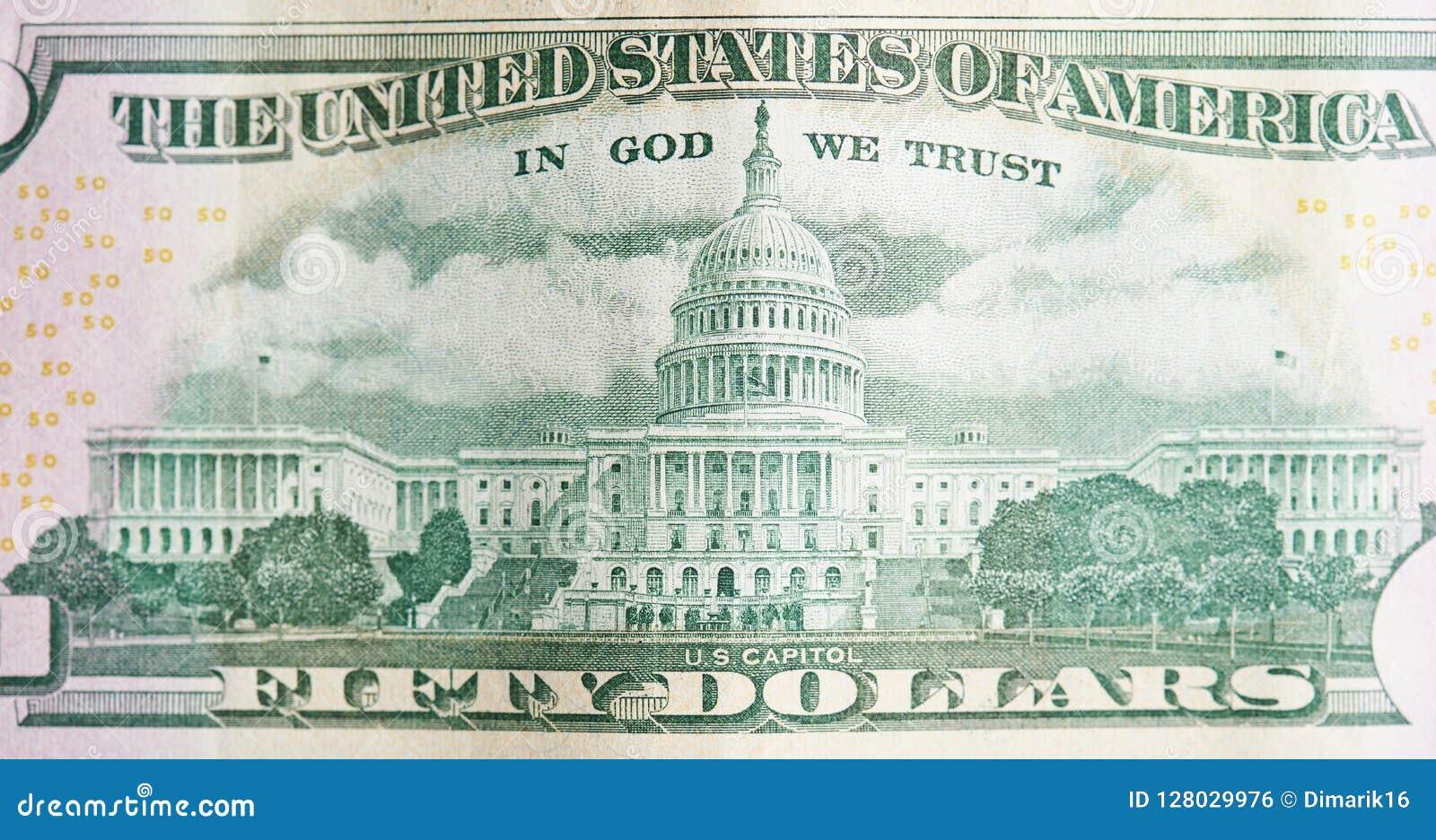 Back of 50 dollar bill