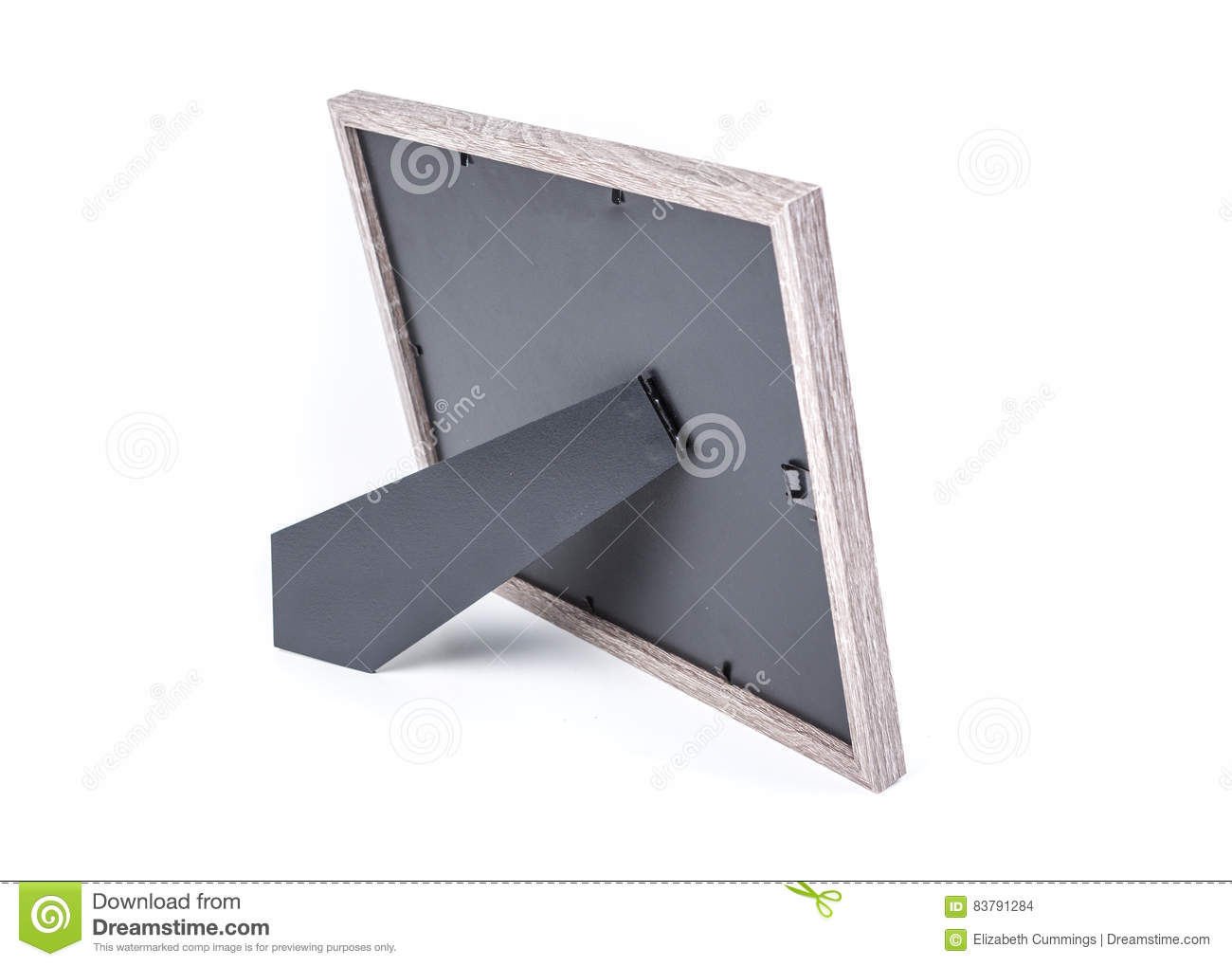 The Back Of A Grey Picture Frame Stock Photo Image Of Stand