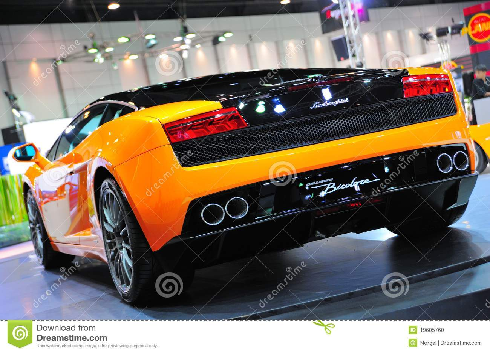 Back Of Lamborghini Gallardo Bicolore Editorial Image Image Of