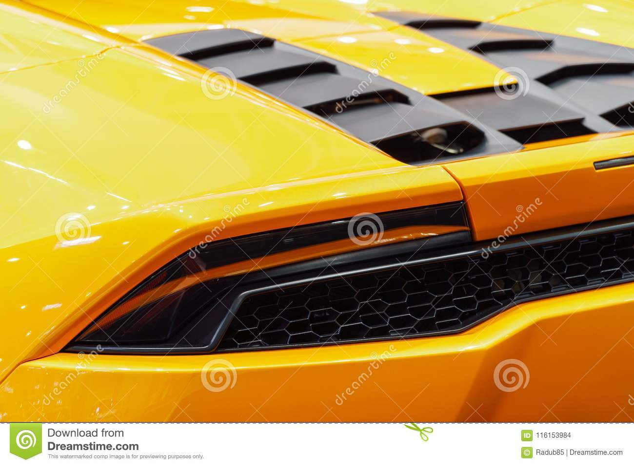 Back Lights Of Sports Car Stock Photo Image Of Design 116153984