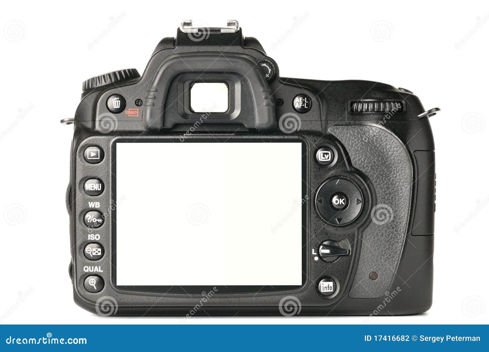 Back of a modern dslr camera stock photo image of macro for Camera gratis