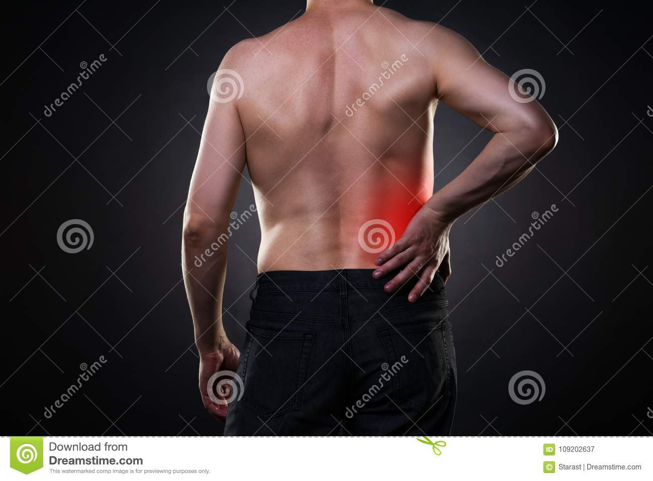 Back Pain Kidney Inflammation Ache In Man S Body Stock Image Image Of Kidney Infection 109202637