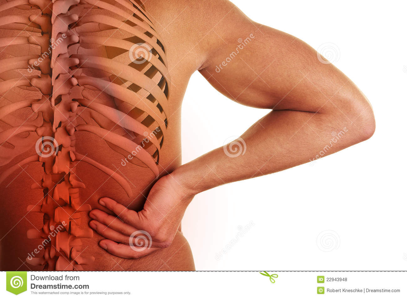 Back pain with spine