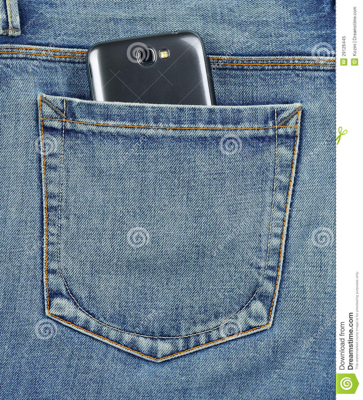 Back Pocket Of Jeans Mobile Phone Royalty Free Stock Photo - Image 29126445