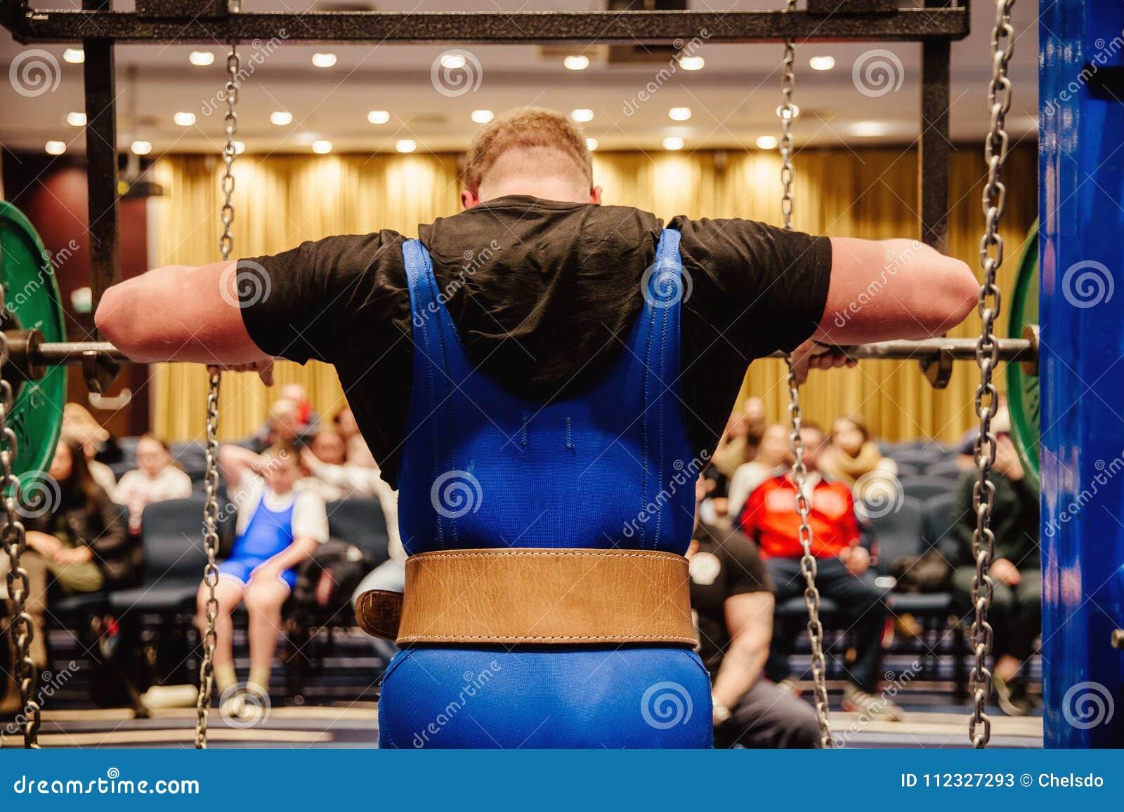 Back powerlifter in belt