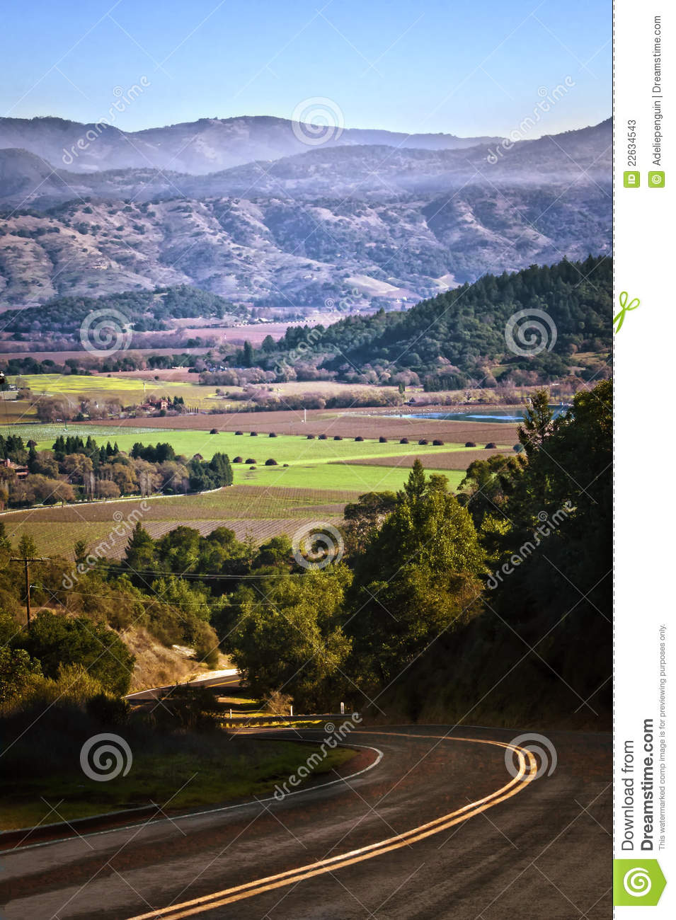 Time Road Id Roblox: Back Road Into Napa Valley, California Stock Photos