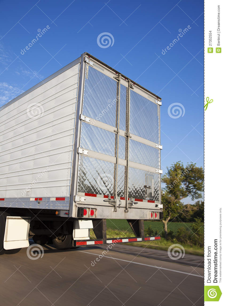 Back Of The Semi Truck Stock Images - Image: 27352554