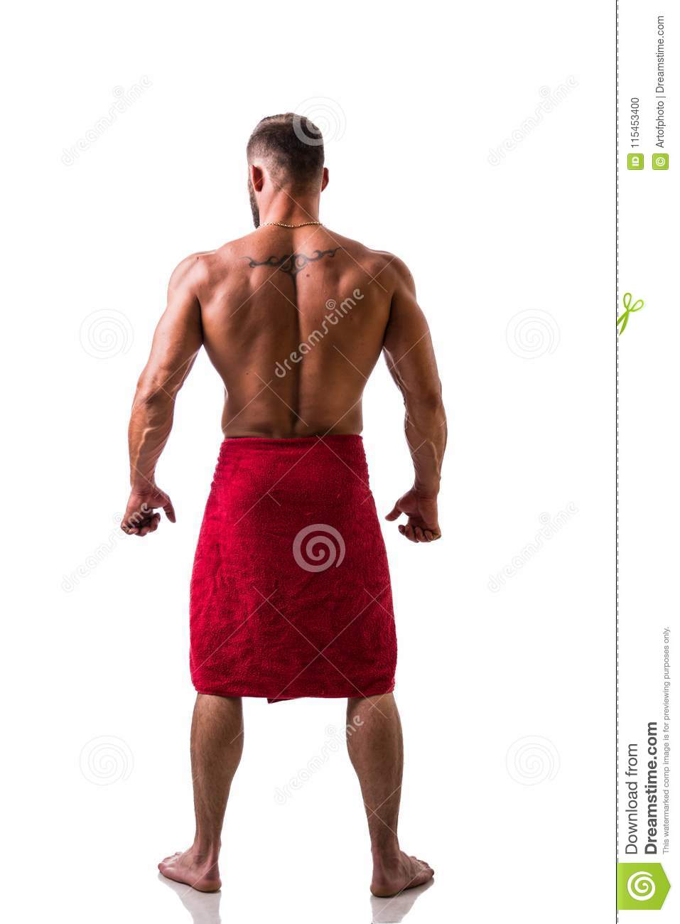 Handsome Topless Muscular Man With Towel Stock Photo - Image of ... fa83e3b6c