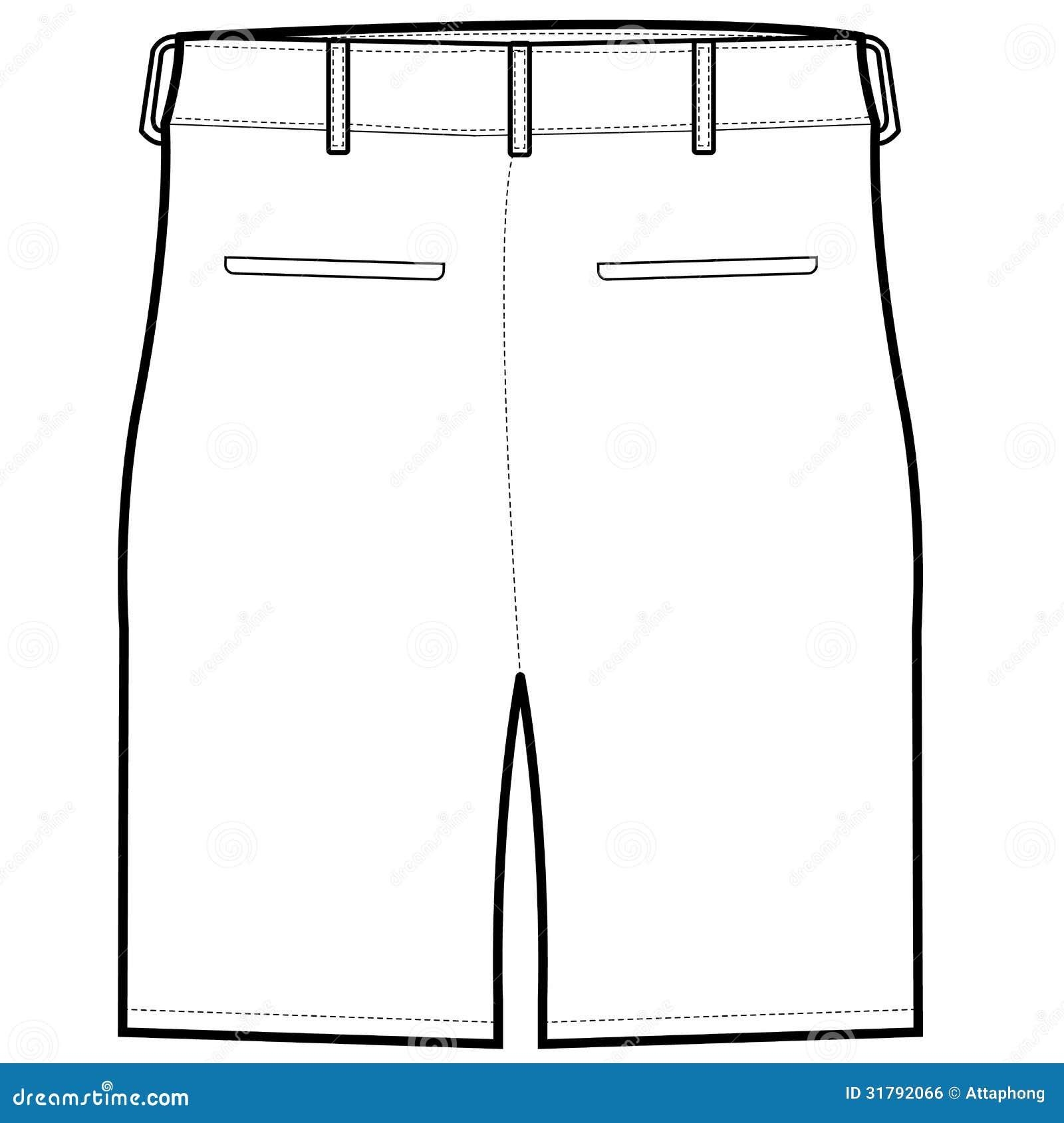 Back Shorts Vector Royalty Free Stock Image Image 31792066