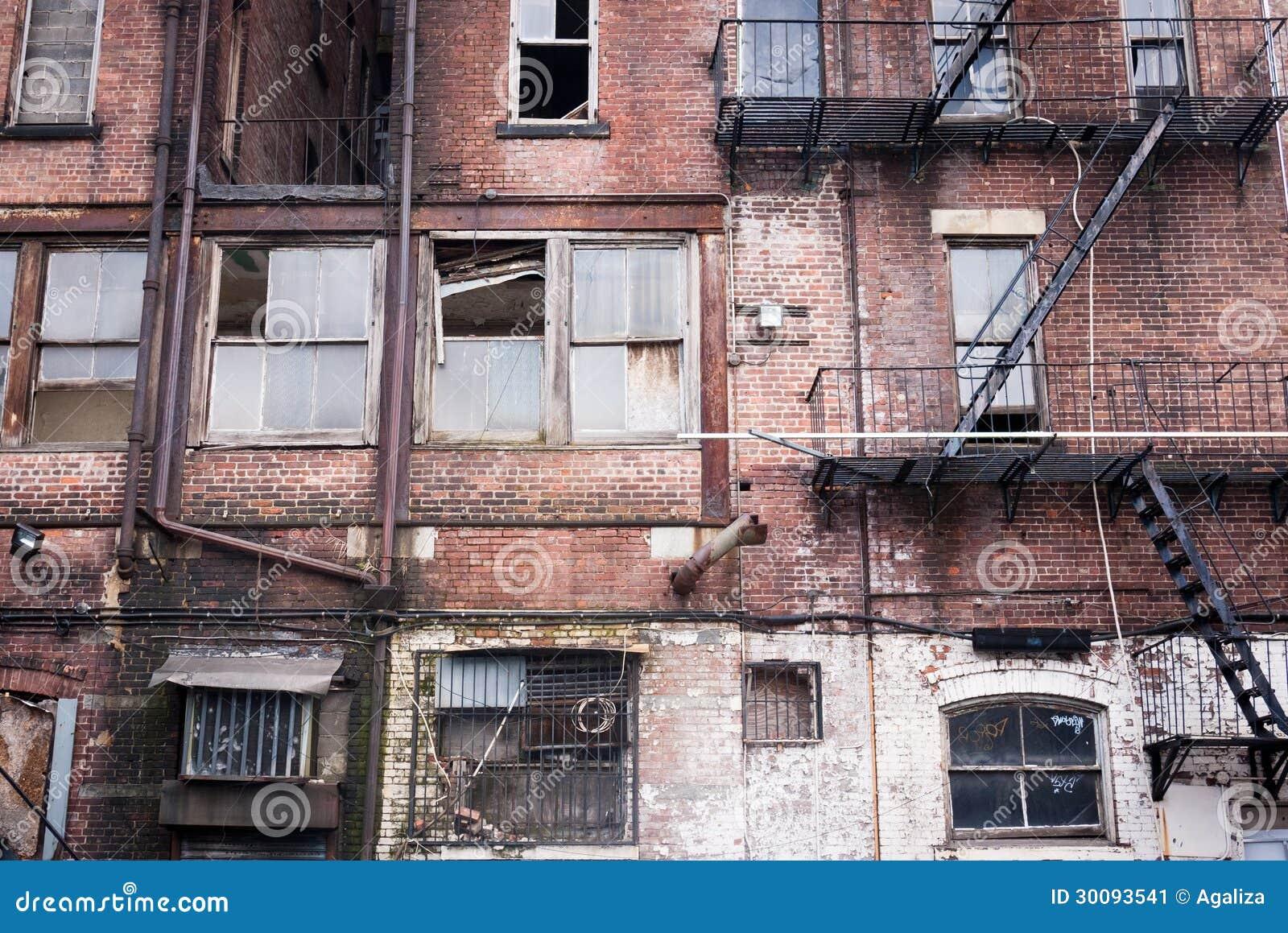 Rundown Building Decay Stock Photos Rundown: Run Down Apartment Facade Stock Image