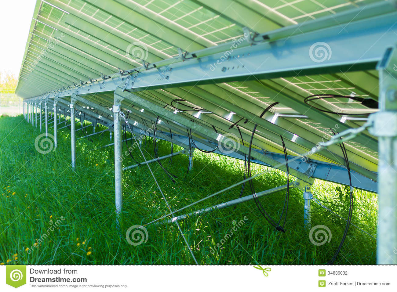 Back Side Of Solar Panel Stock Photo Image Of Environment