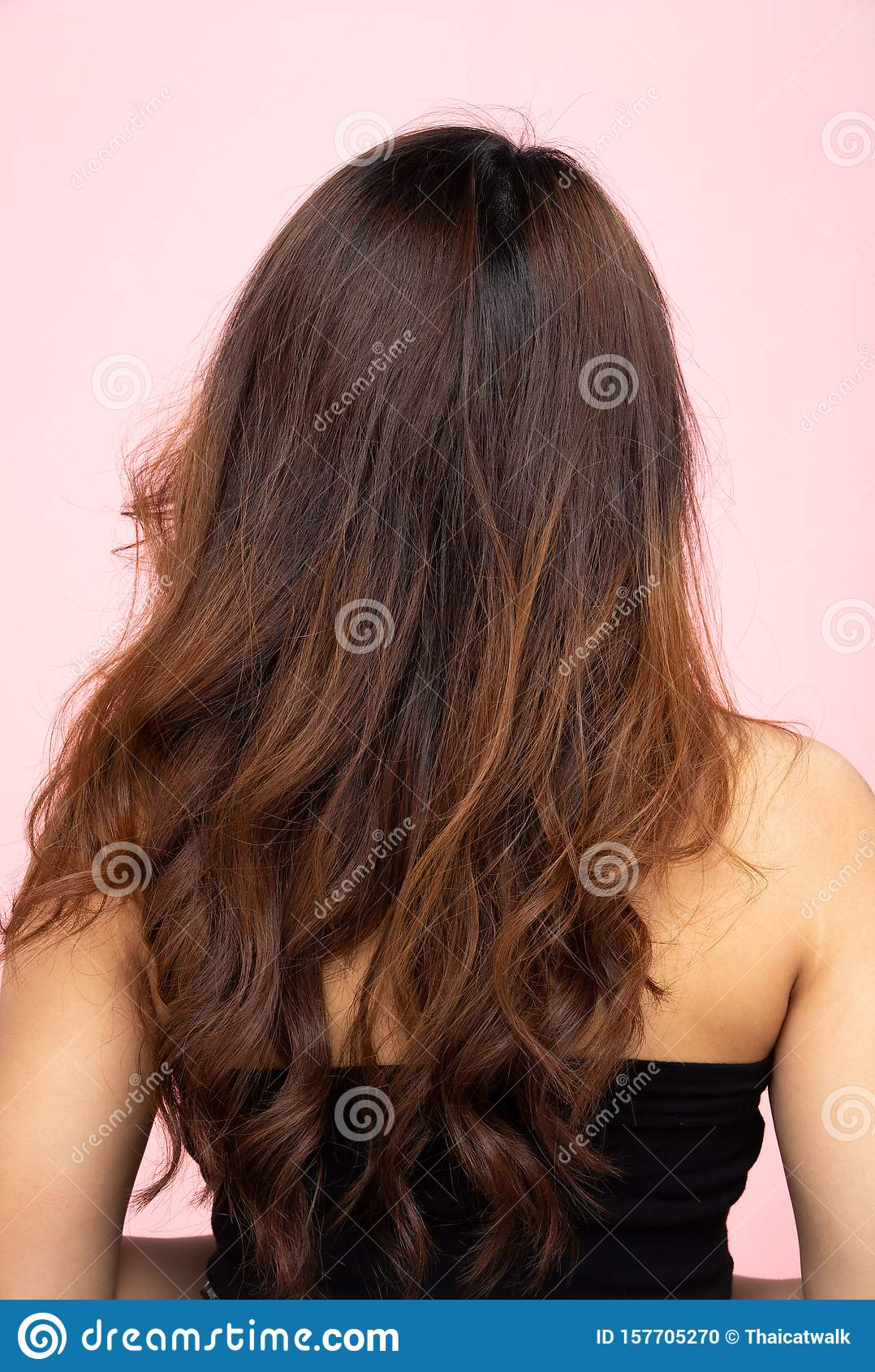 Back Side View Of Women To Show Hair Style Stock Photo Image Of Hair Korea 157705270