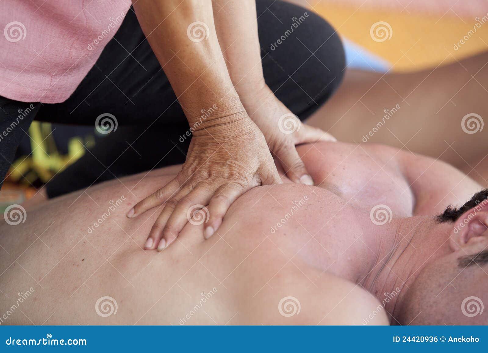 Back som har manmassage