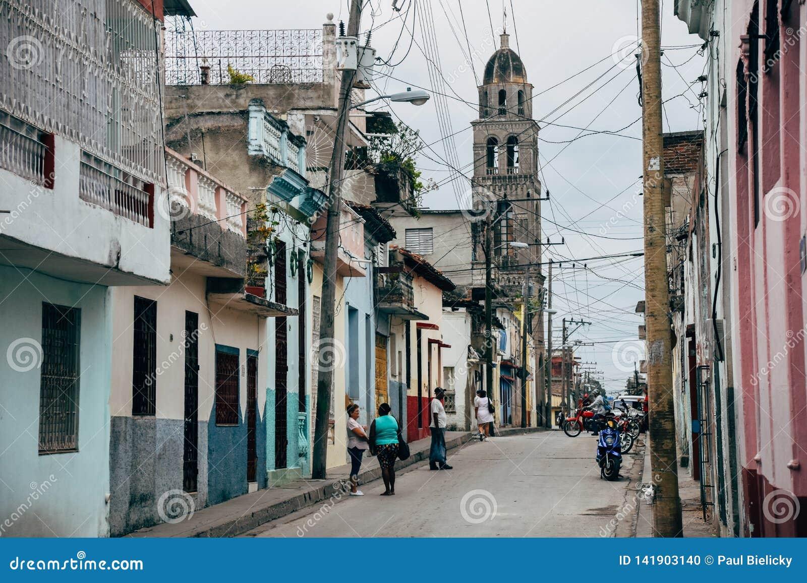 A back street in Santa Clara, Cuba.