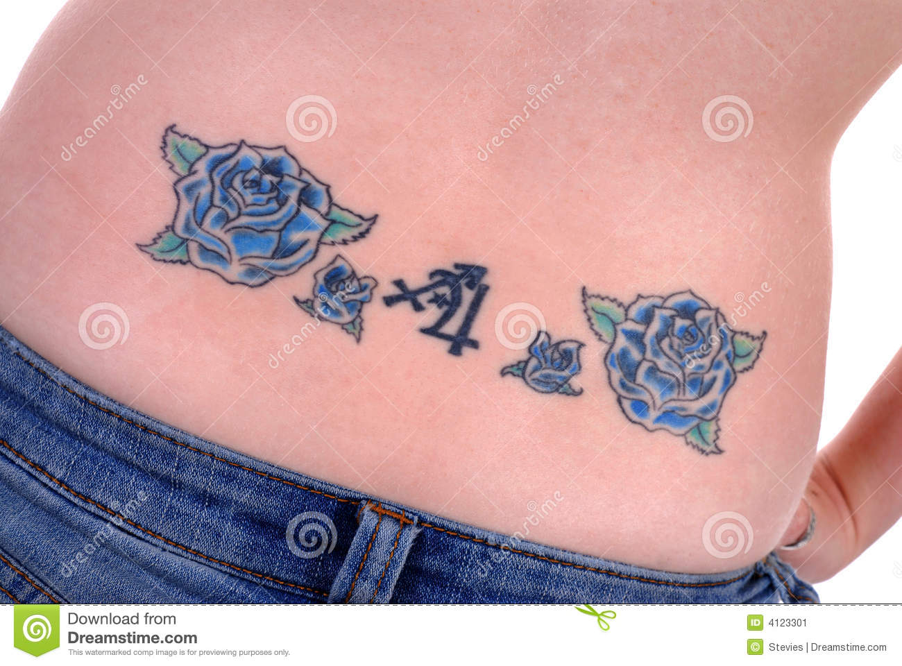 Back tattoo stock image image 4123301 for 1997 tattoo designs