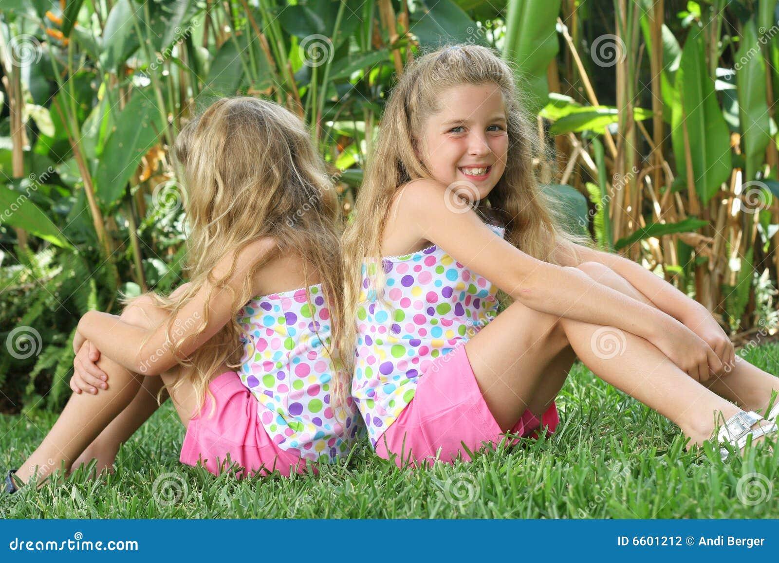 Back to back twins outside