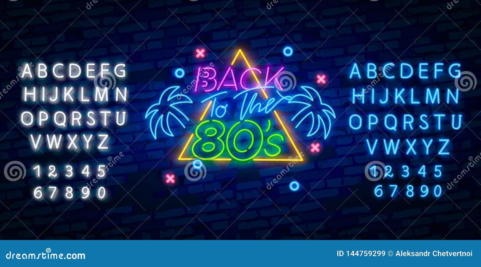 80s Neon Font