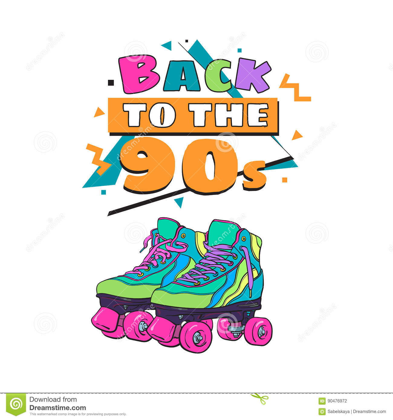 90s poster design - 90s Background Banner Design Memphis Party Poster