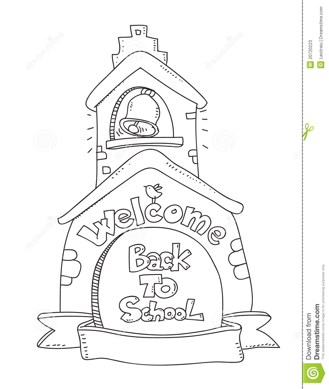 back to school stock vector. illustration of copy, door - 20720223