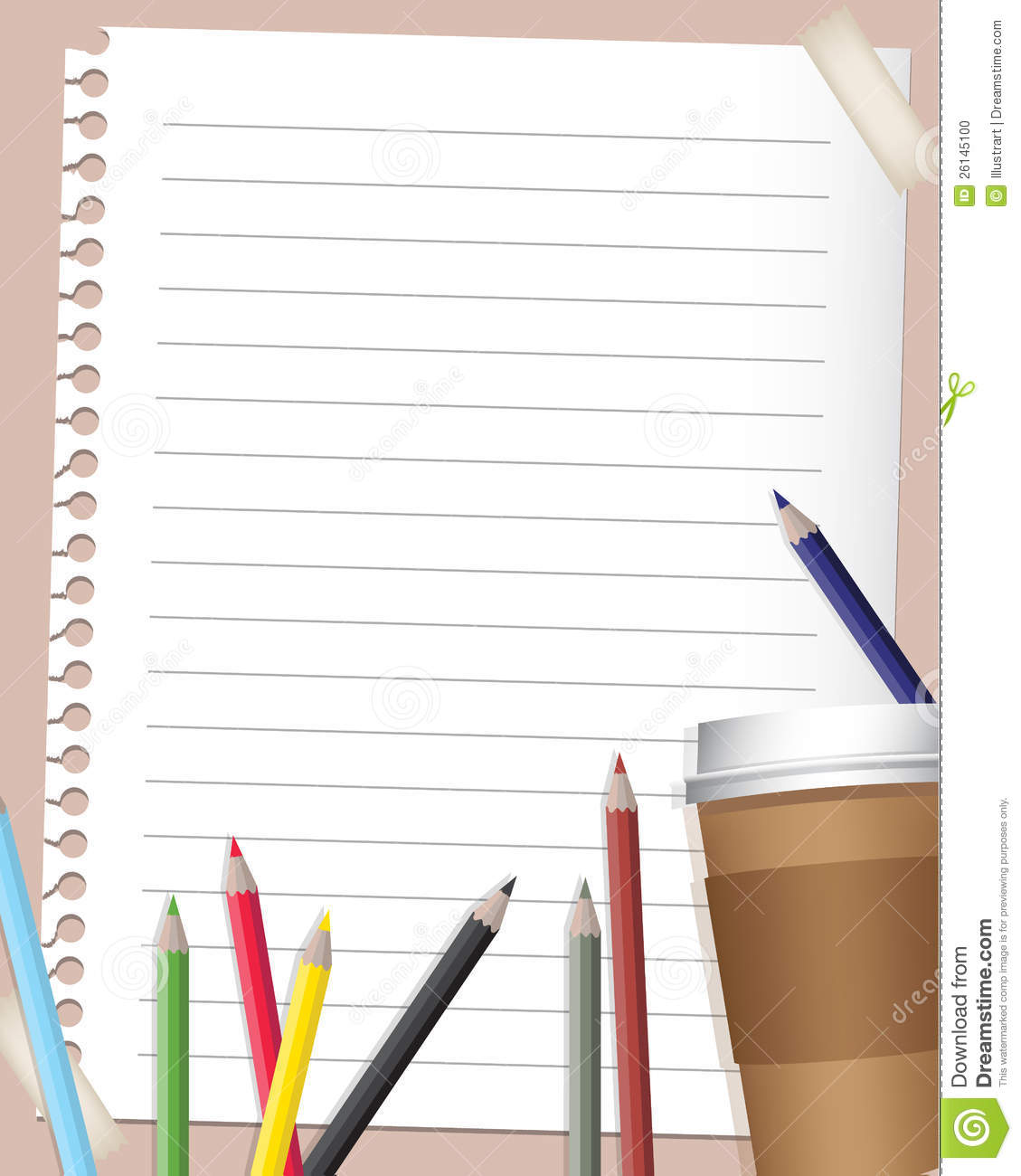 Back To School Background Stock Photo Image 26145100