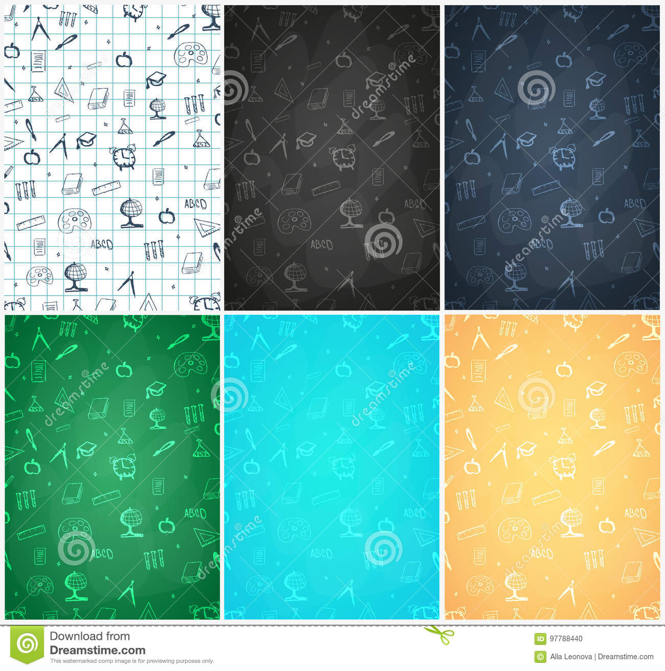 Back To School Background Education Banner Vector Illustration Stock Illustration Illustration Of Green Holiday 97788440