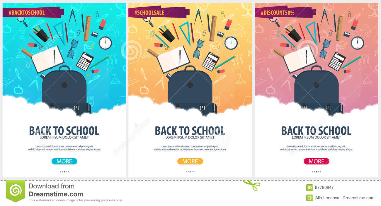 Back To School Background Education Banner Vector Illustration Stock Illustration Illustration Of Educate Background 97790847