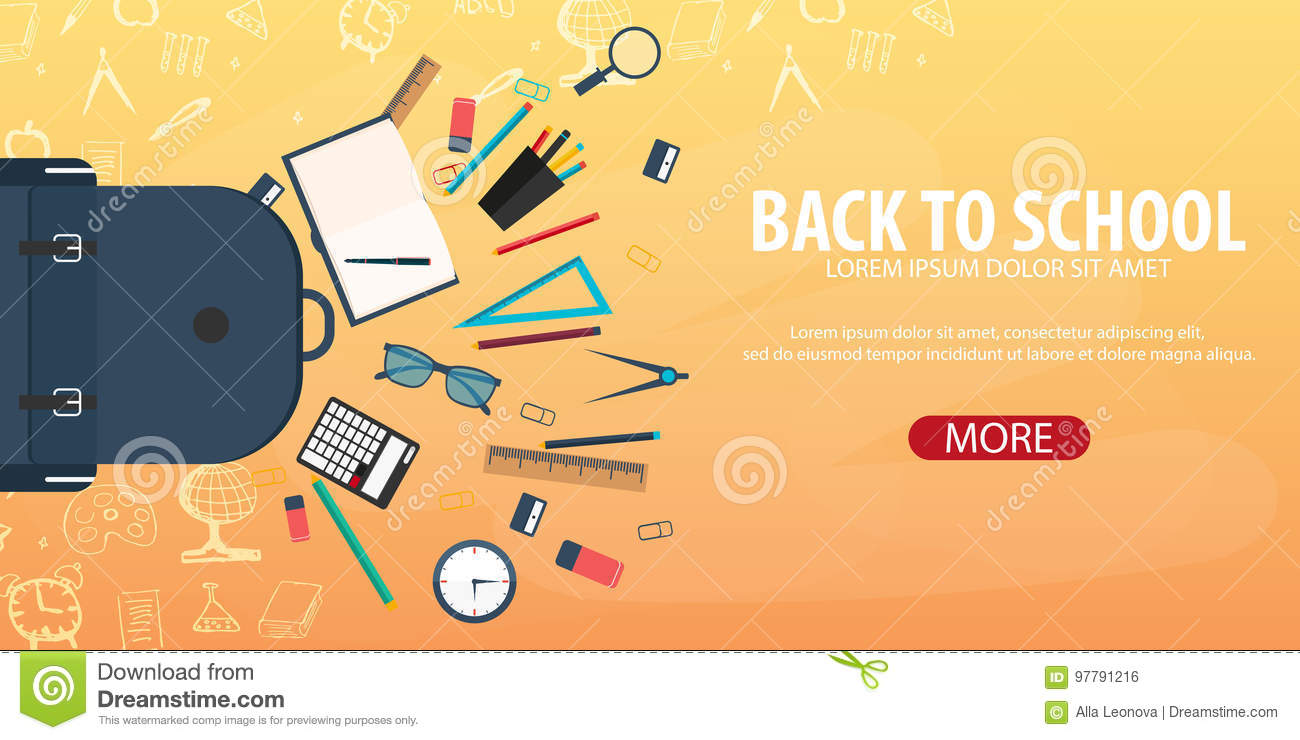 Back To School Background Education Banner Vector Illustration Stock Illustration Illustration Of Educate Background 97791216