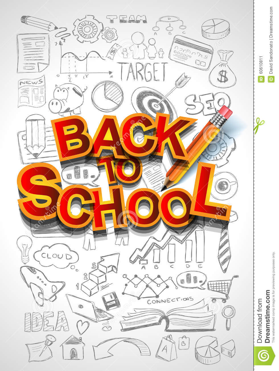 School Book Cover Background : Back to school background use stock vector image
