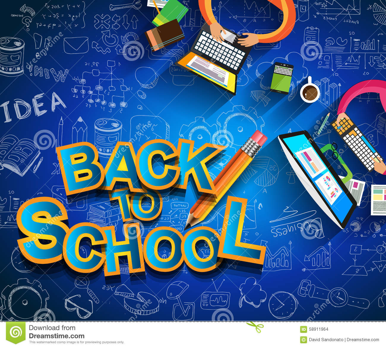 School Book Cover Background : Back to school background use for your layouts stock