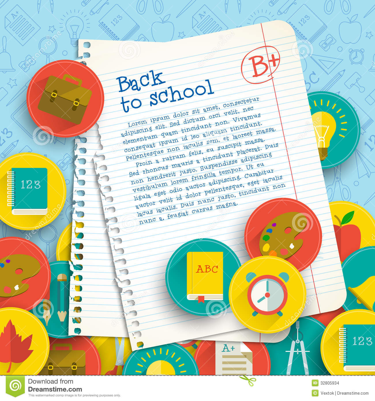 back to school vector - photo #24
