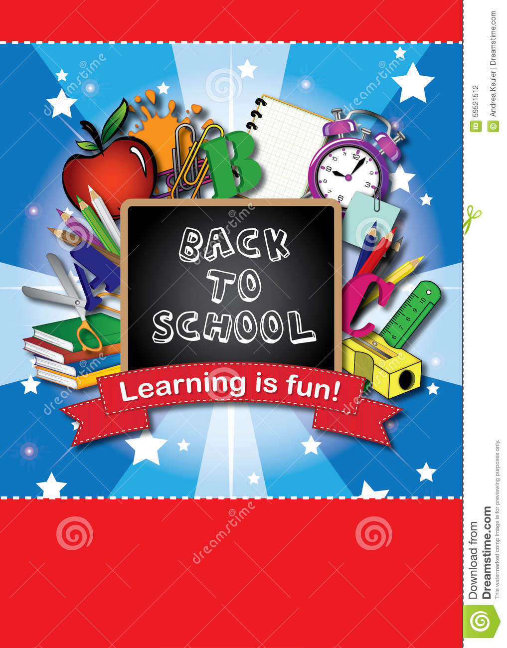 Book Cover For School ~ Back to school book cover stock illustration