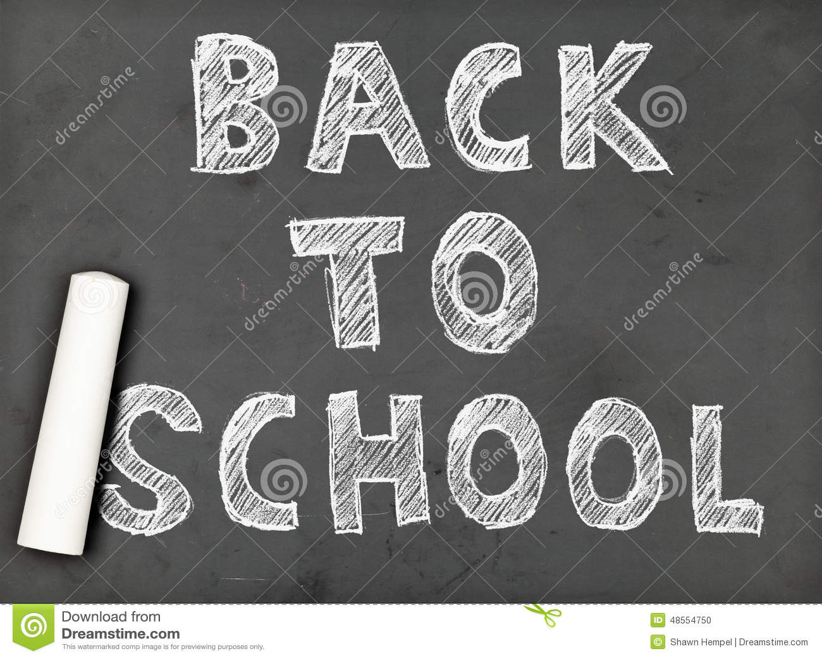 back to school chalk writing stock photo image of school subject
