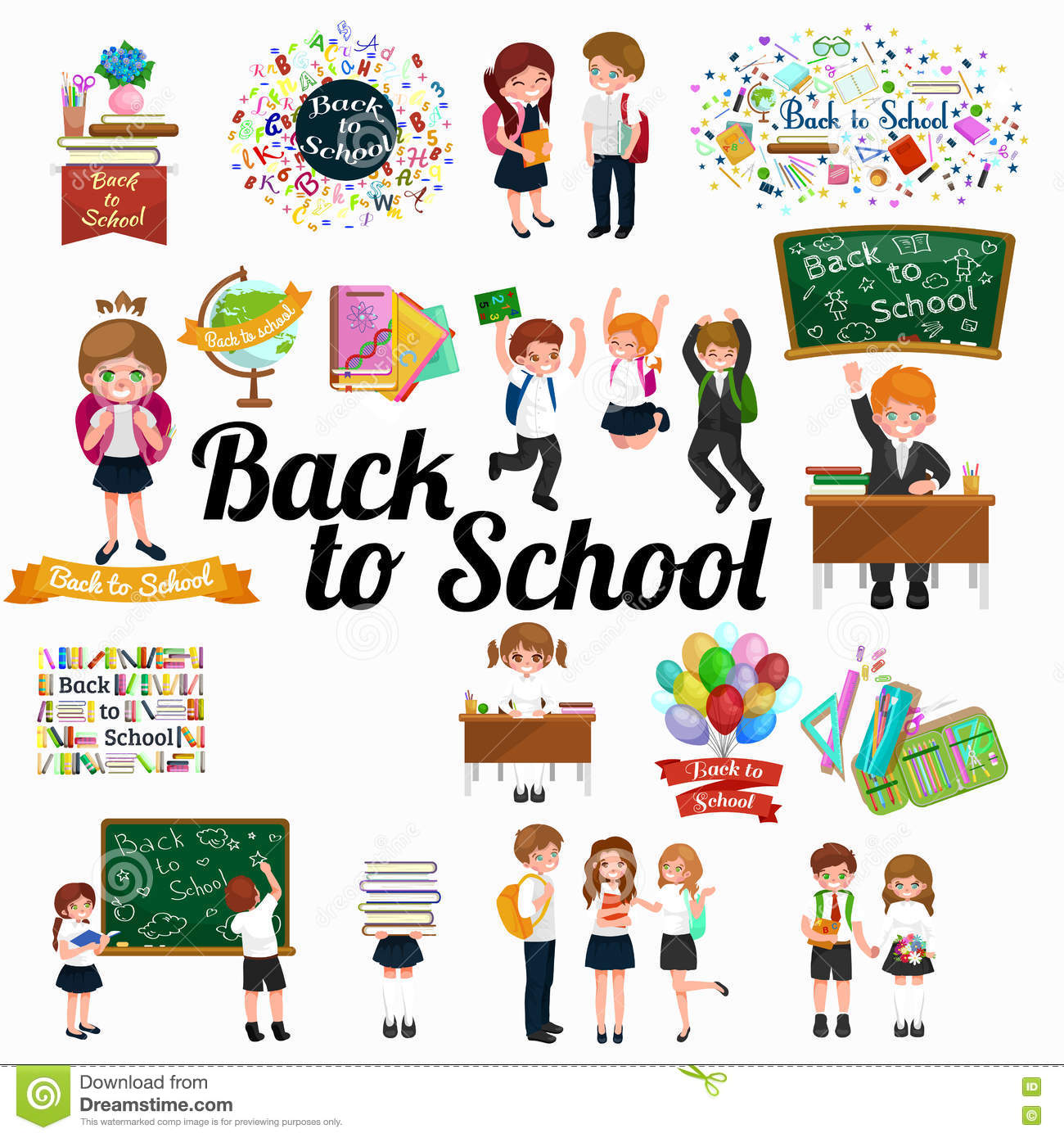 Back to school and children education concept background