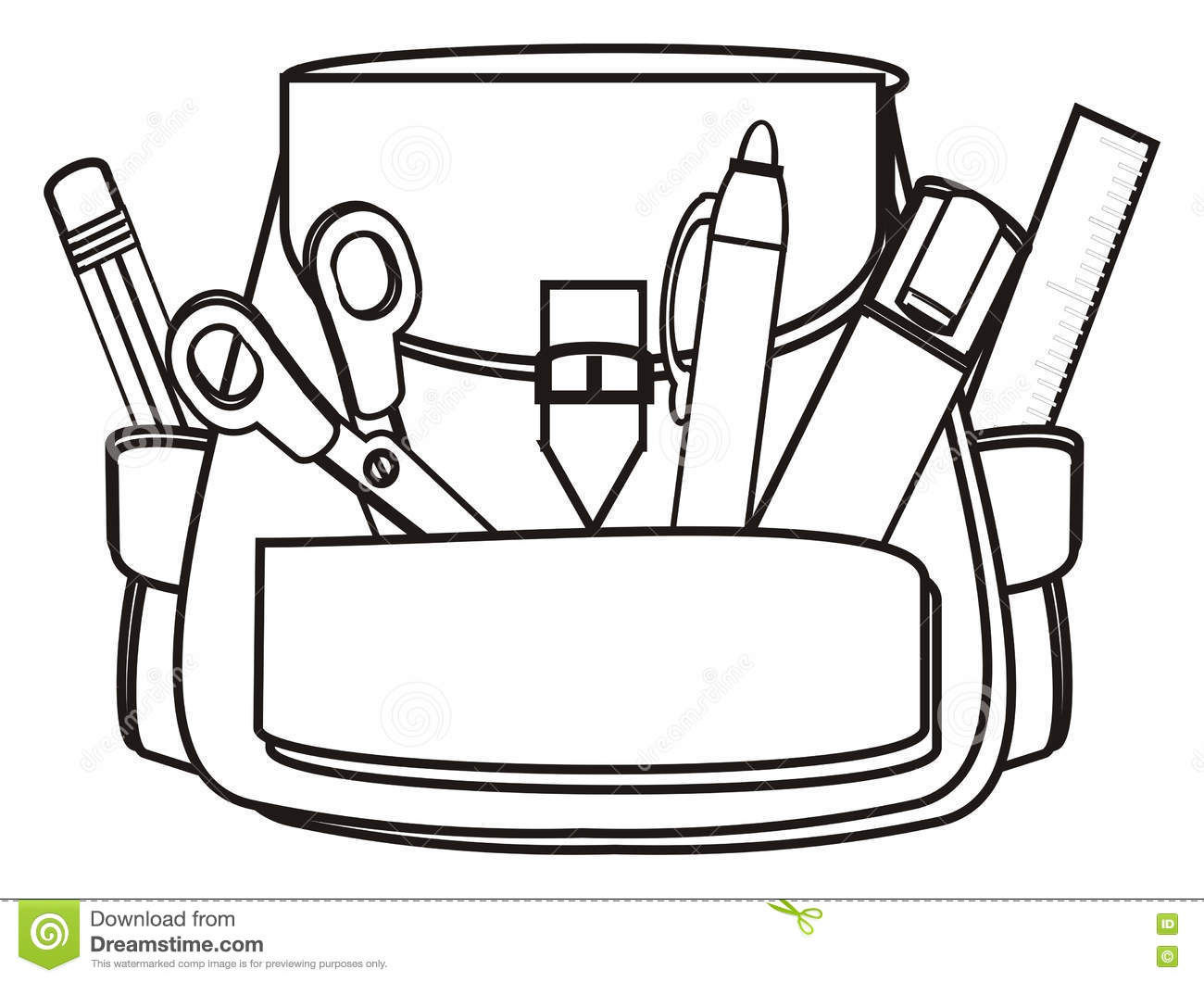 Back To School Stock Illustration. Illustration Of Items