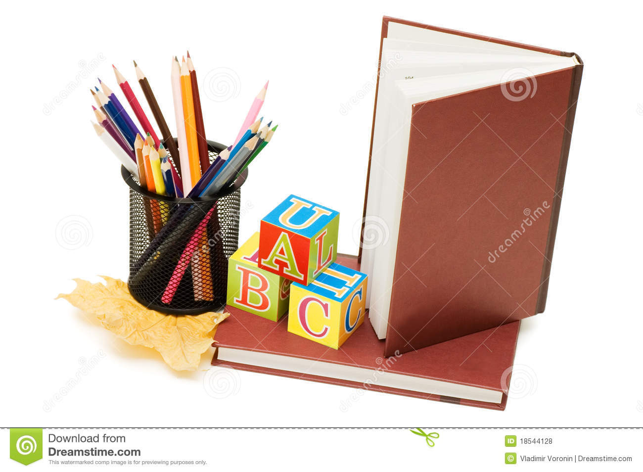 Back To School Concept With Books And Pencils Royalty Free