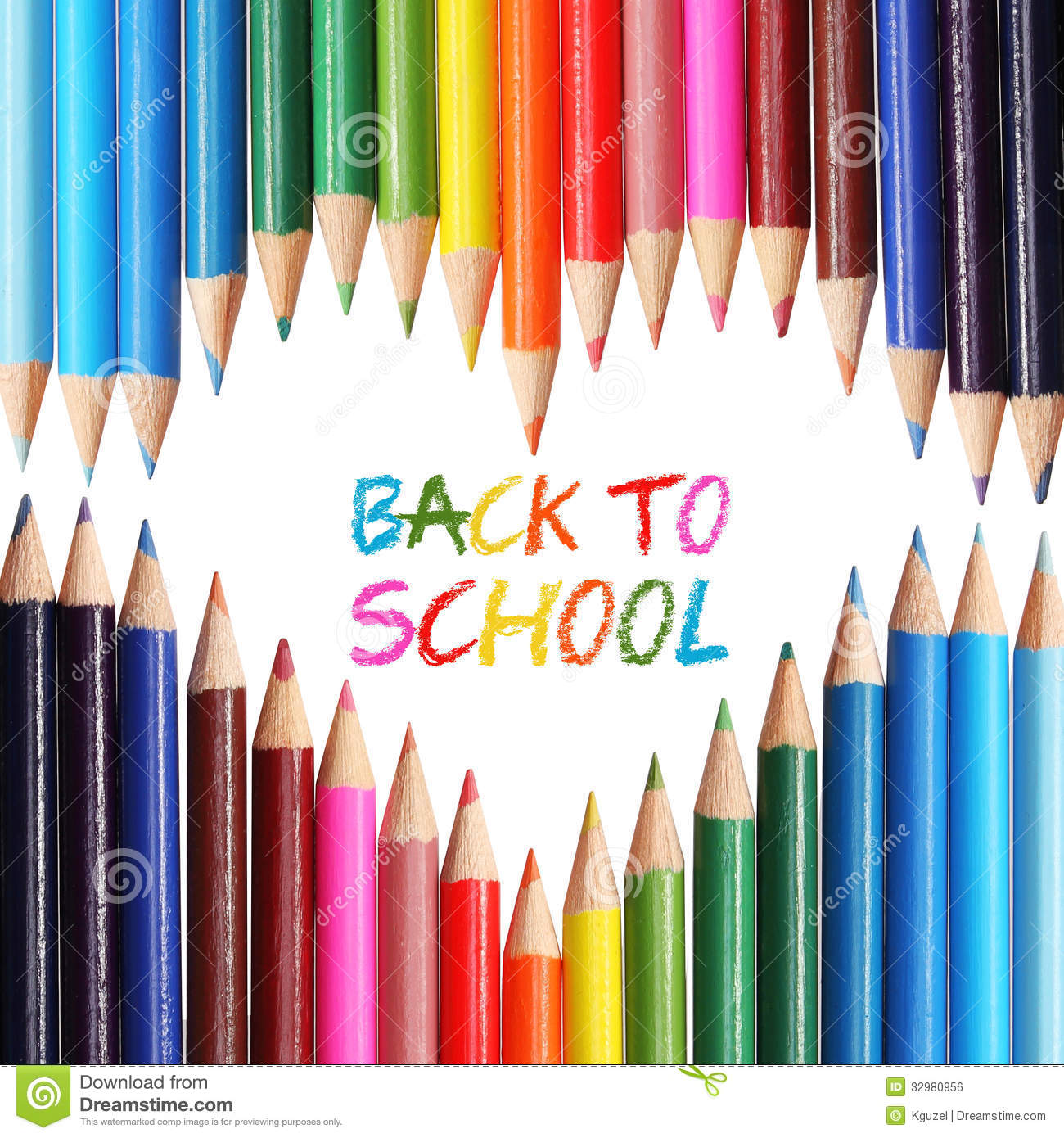 Back To School Concept Colorful Pencils Arranged As Heart