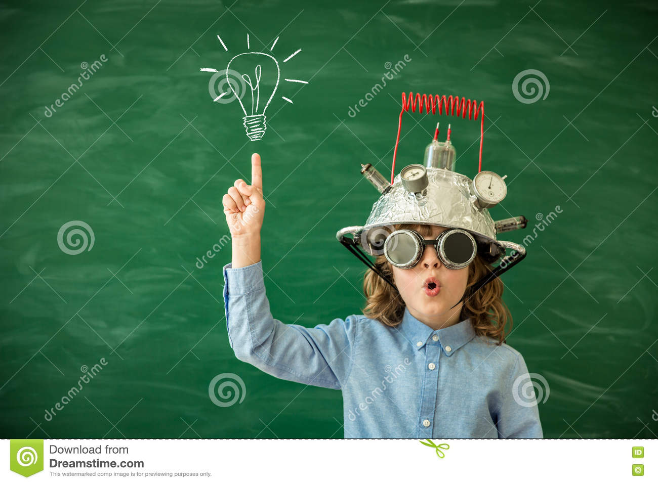 Blackboard Innovative Classroom ~ Back to school concept stock image of