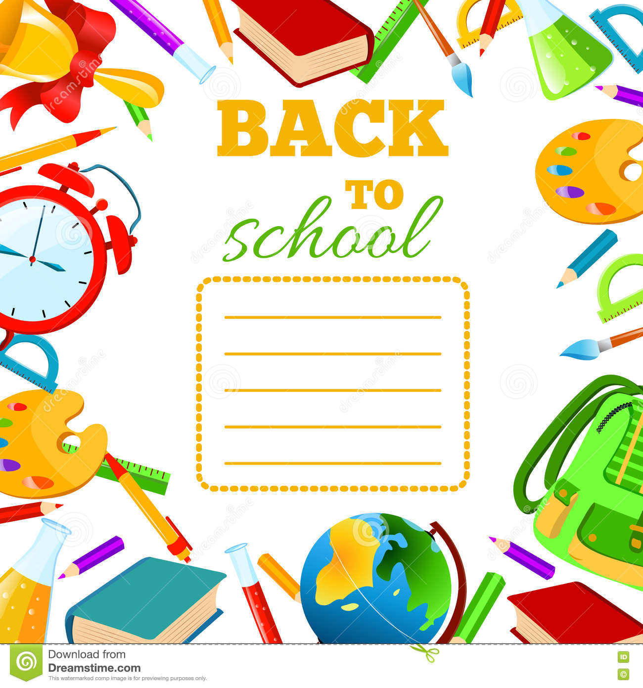 Children School Book Cover : Back to school cover for children exercise book stock