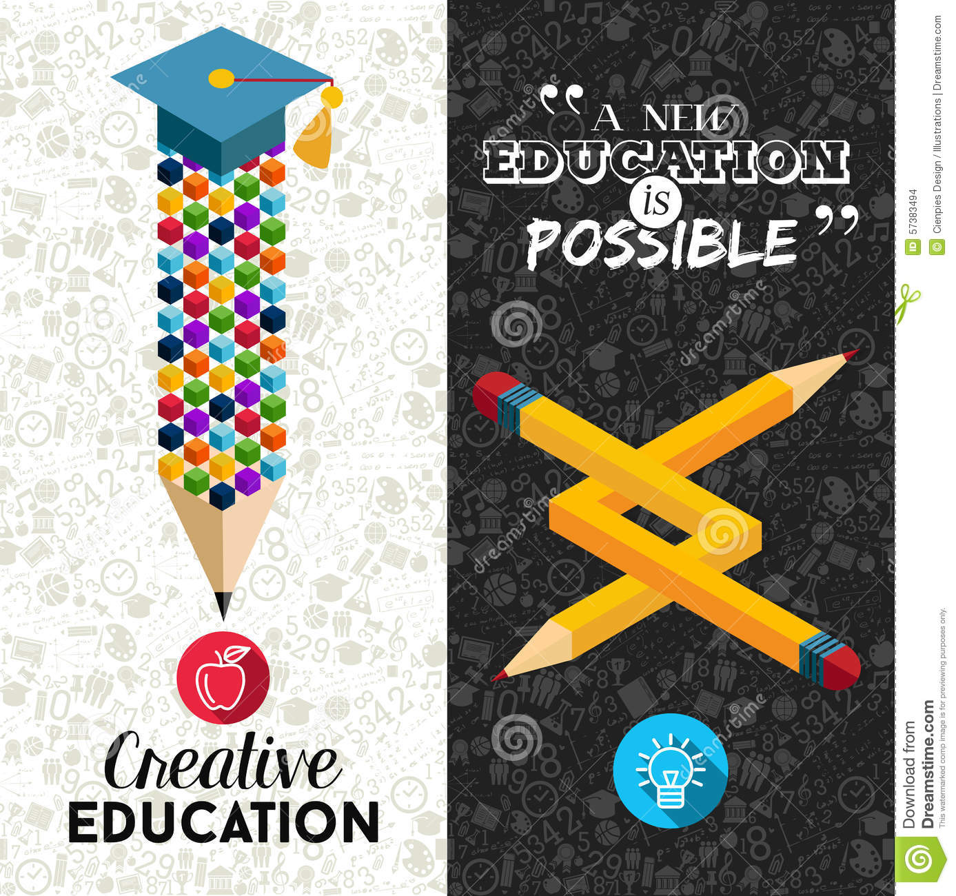 Back To School Creative Banner Illustration Stock Vector ...