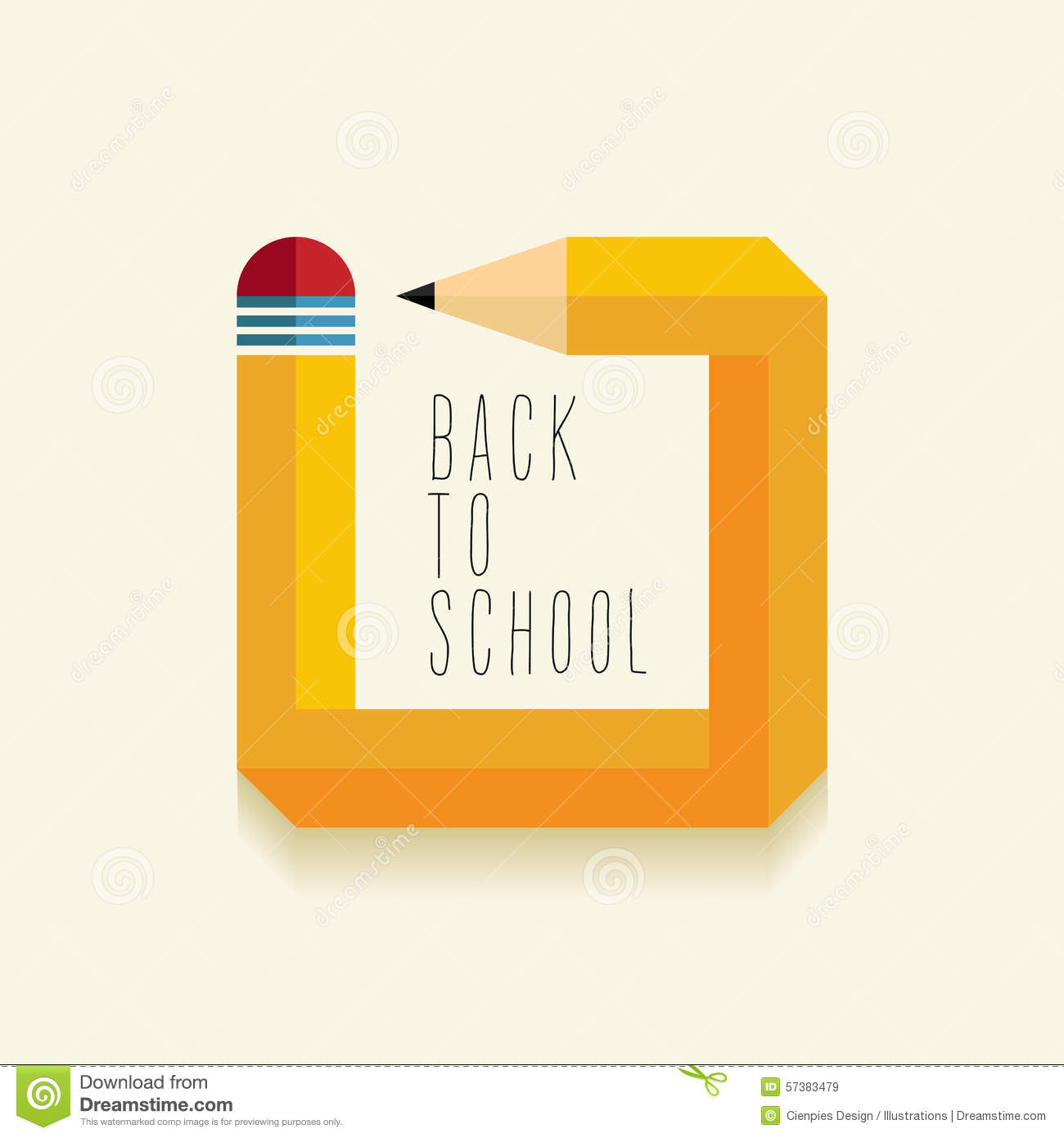 School Book Cover Advertising : Back to school creative illustration design stock vector