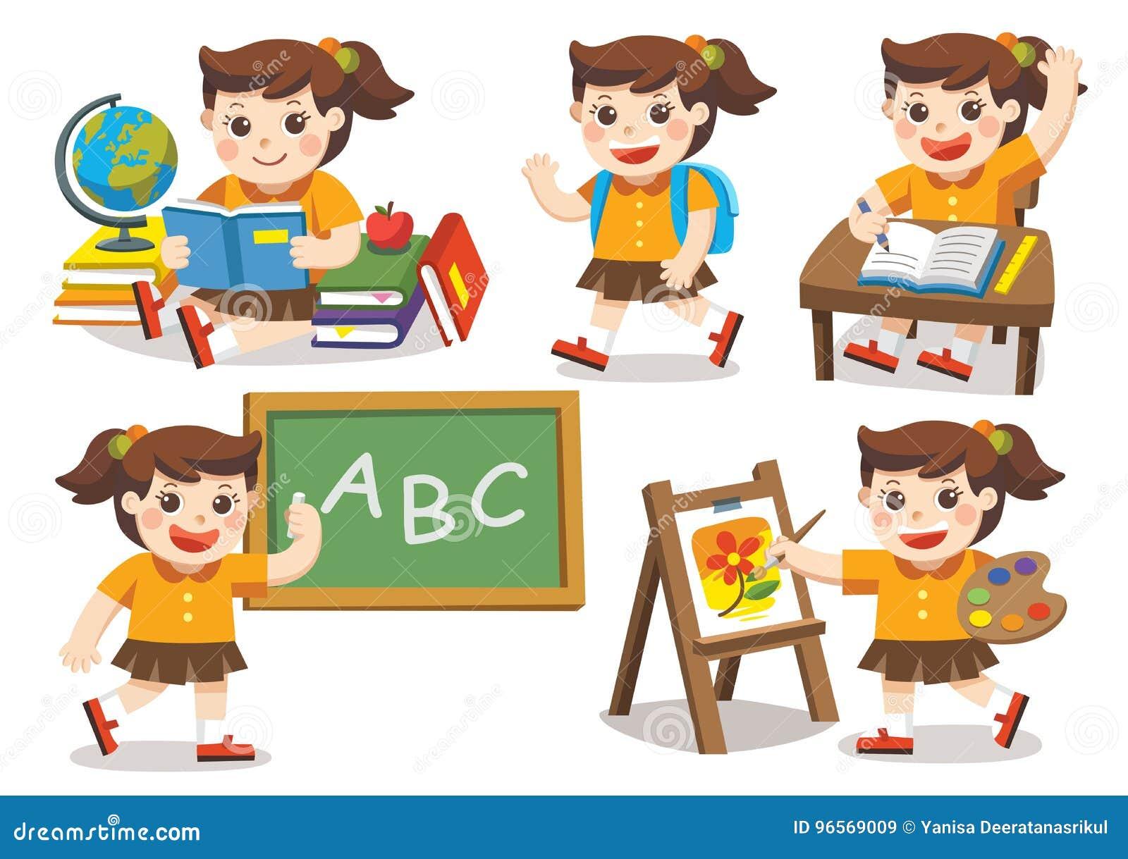 Back to School. Cute children have fun