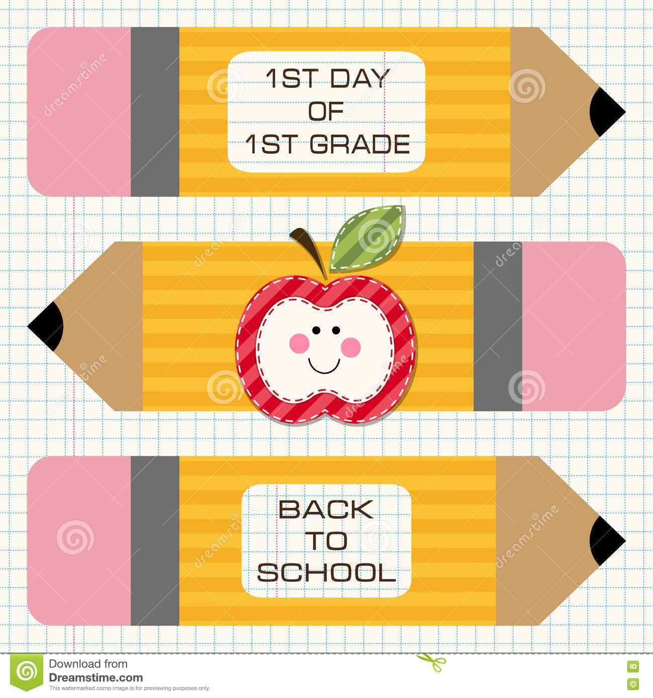 Back to school decorations stock vector illustration of for Back to school notebook decoration ideas