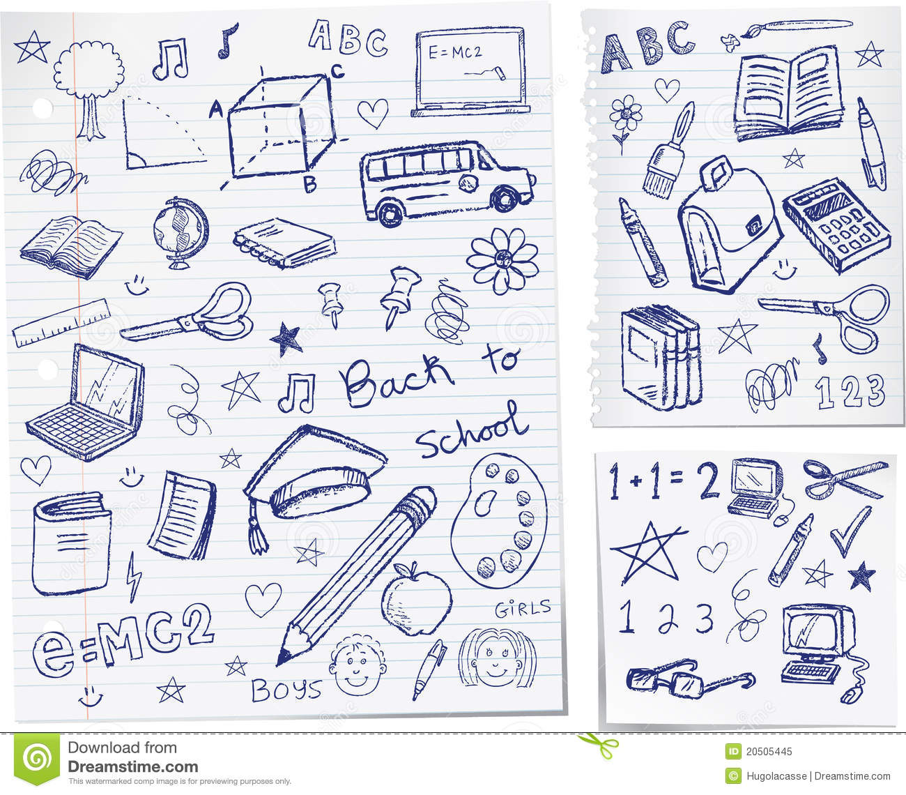 Back To School Doodles Royalty Free Stock Photo Image 20505445