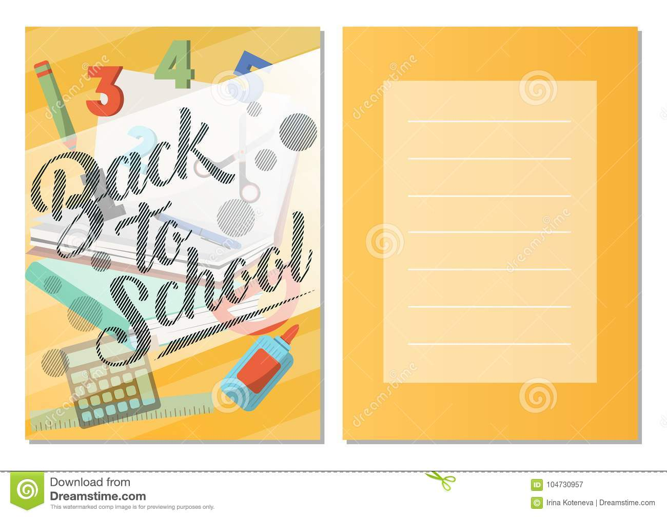 Back to school greeting card set stock vector illustration of download back to school greeting card set stock vector illustration of black class m4hsunfo