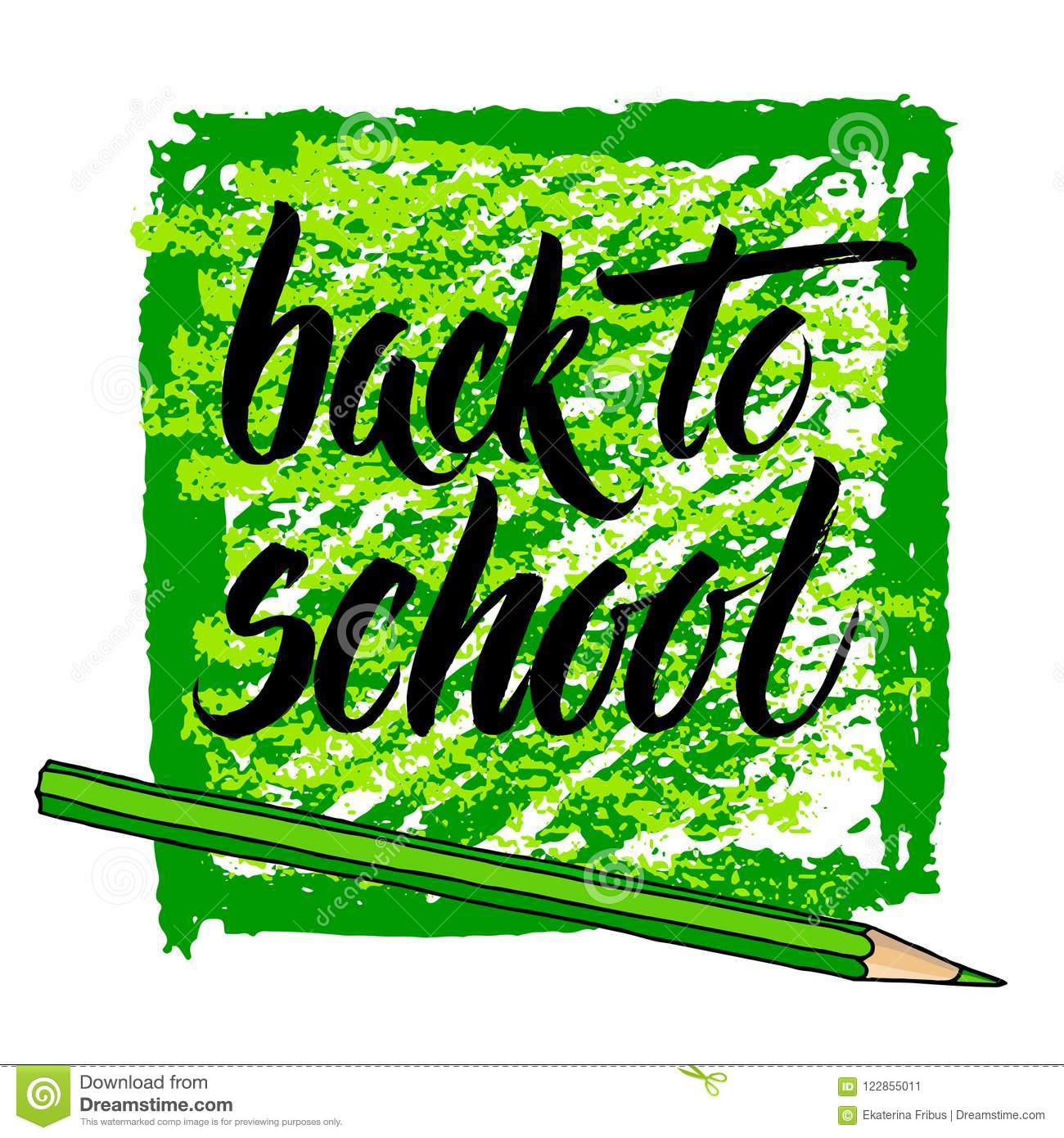 Back To School Greetings Stock Vector Illustration Of Isolated