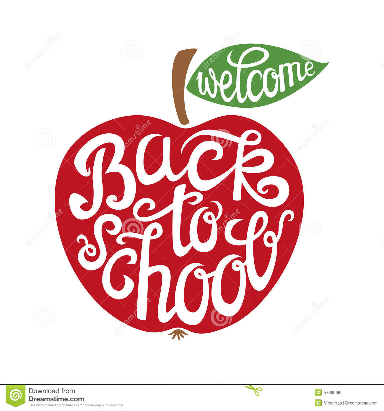 Back To School Hand Lettering Card Stock Vector Illustration Of