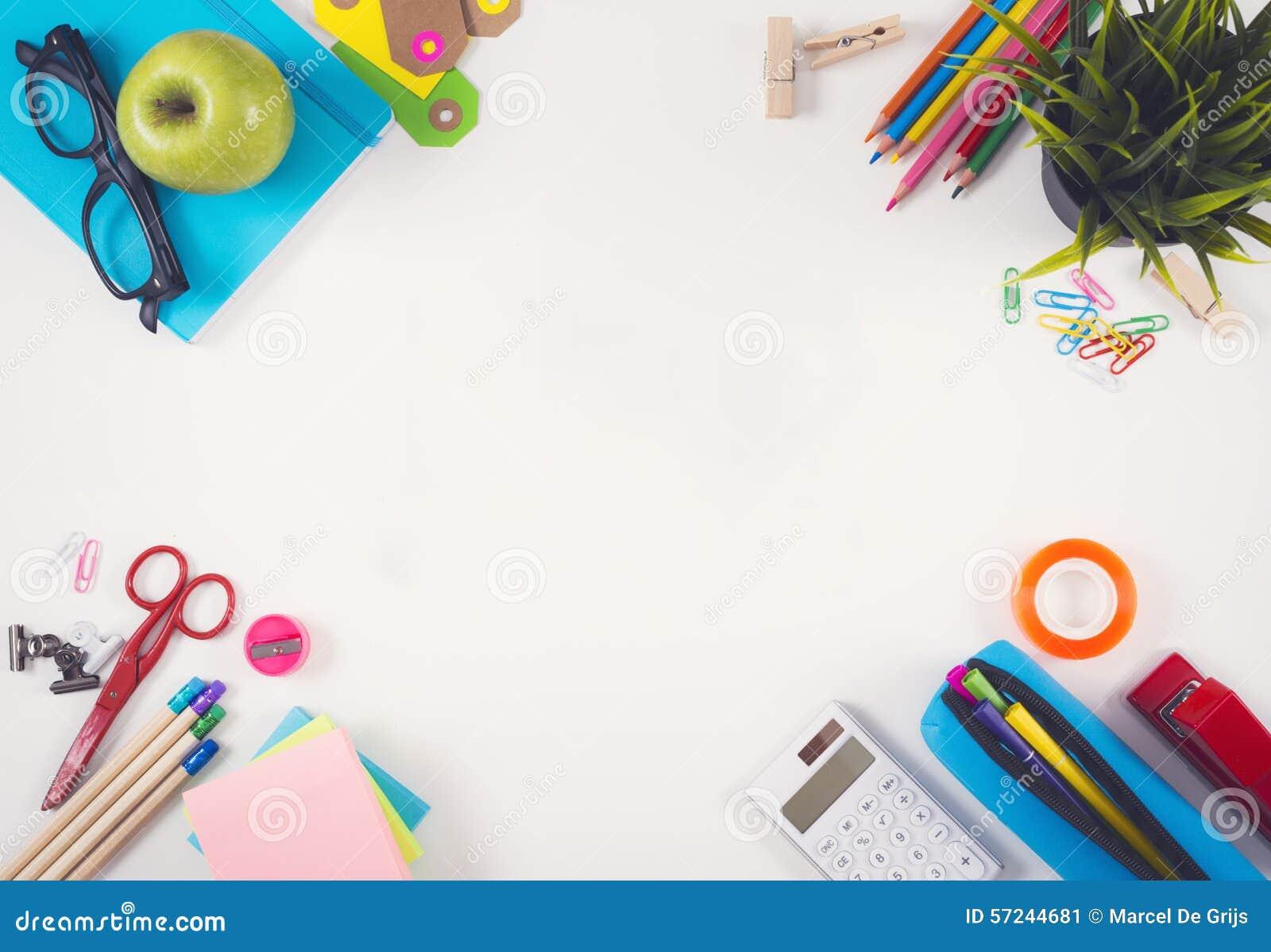 Back To School Hero Header Stock Image Image Of Stationary 57244681