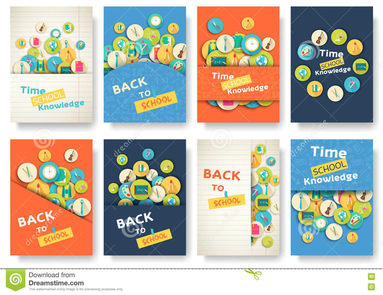 Book Covers Back To School : Back to school information pages set education template