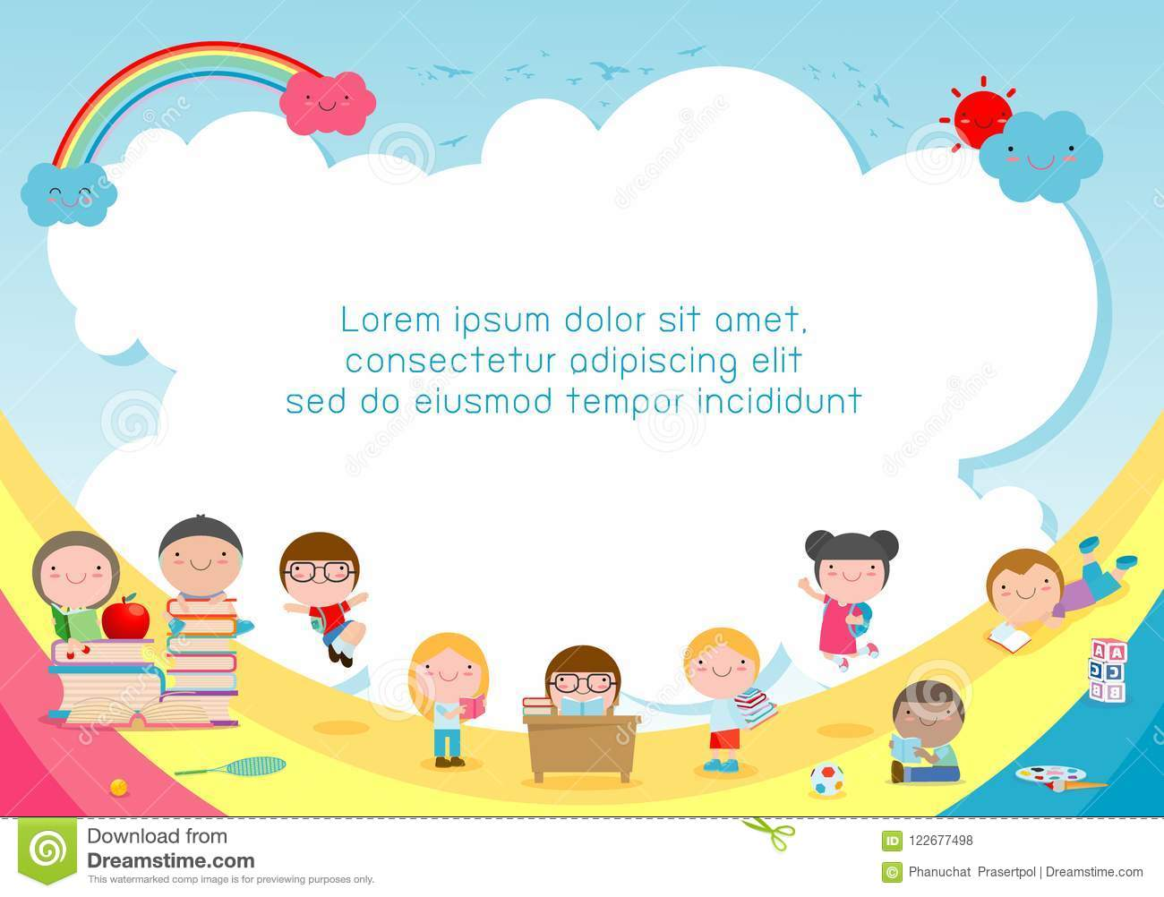 Back To School Kids School Education Concept Child And Books